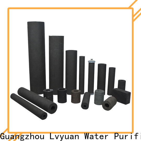 Lvyuan activated carbon sintered stainless steel filter rod for sea water desalination