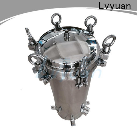 Lvyuan professional stainless steel cartridge filter housing with fin end cap for sea water desalination