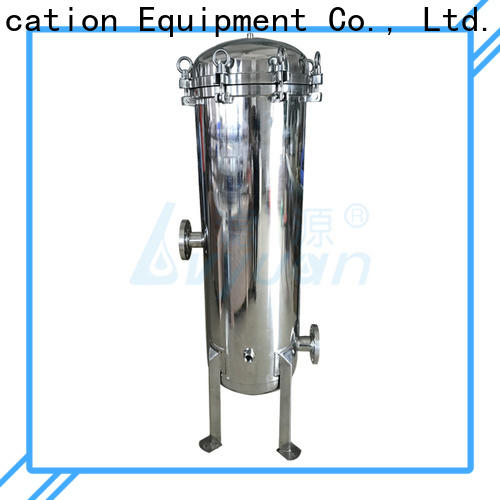 Lvyuan titanium stainless steel bag filter housing with fin end cap for sea water treatment