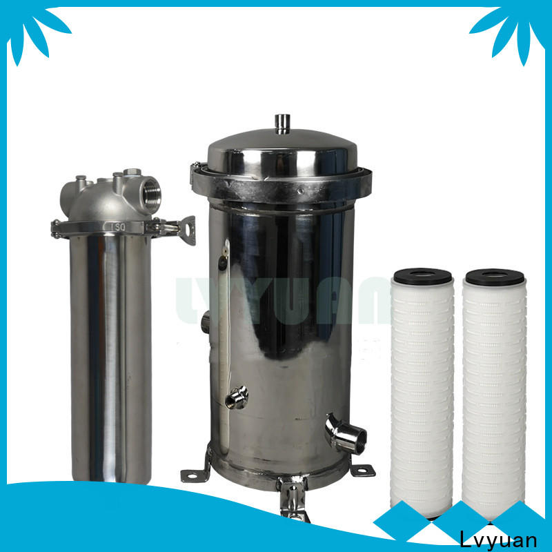 porous stainless steel filter housing manufacturers with fin end cap for sea water desalination