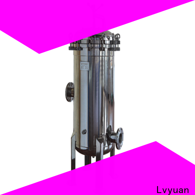 best stainless steel water filter housing with fin end cap for sea water treatment