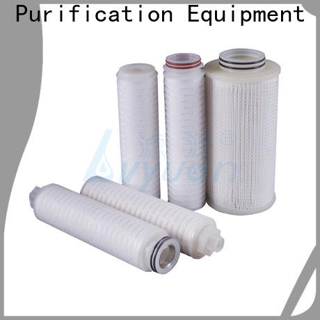 Lvyuan pvdf pleated water filter cartridge supplier for organic solvents
