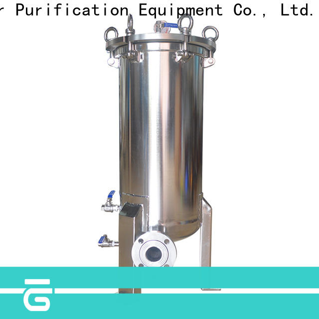Lvyuan professional ss filter housing with fin end cap for food and beverage