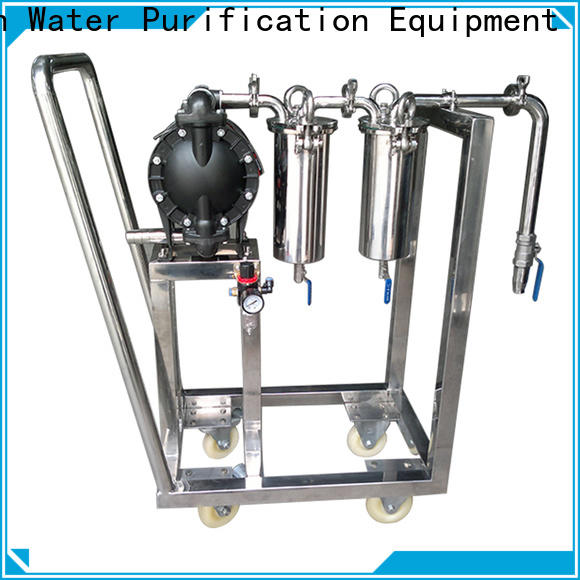 efficient stainless water filter housing with fin end cap for food and beverage