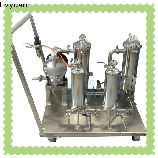 porous stainless steel cartridge filter housing with core for sea water desalination