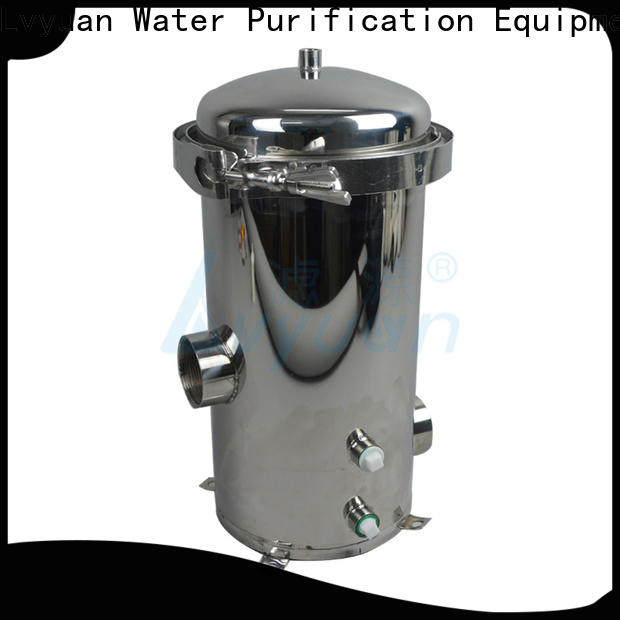 Lvyuan efficient stainless water filter housing housing for industry