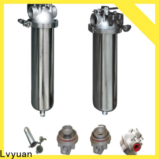 Lvyuan stainless filter housing with fin end cap for food and beverage