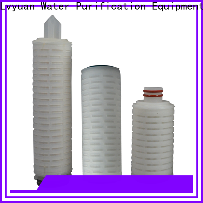Lvyuan pleated water filters with stainless steel for organic solvents