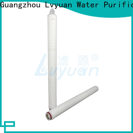 Lvyuan water pleated water filter cartridge supplier for sea water desalination
