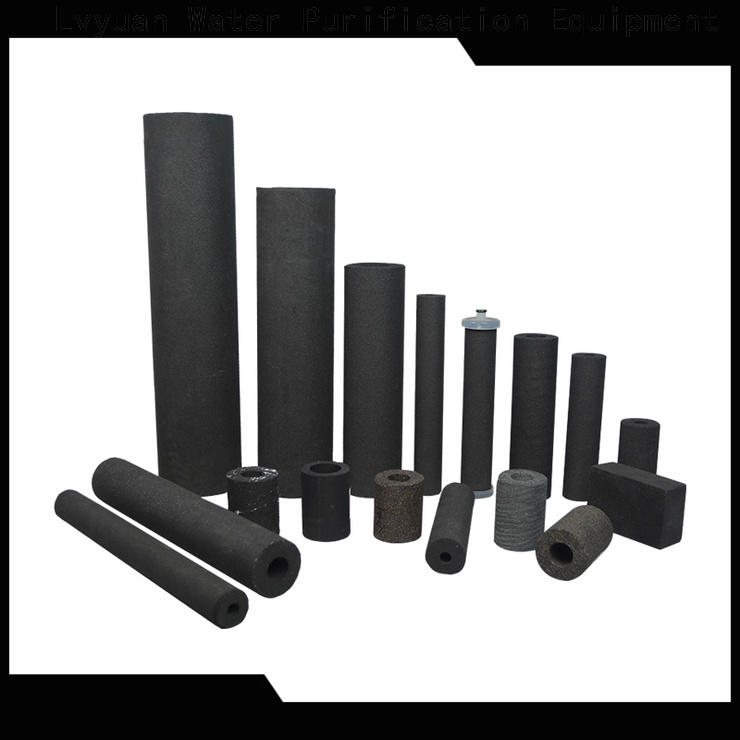 activated carbon sintered filter cartridge rod for food and beverage