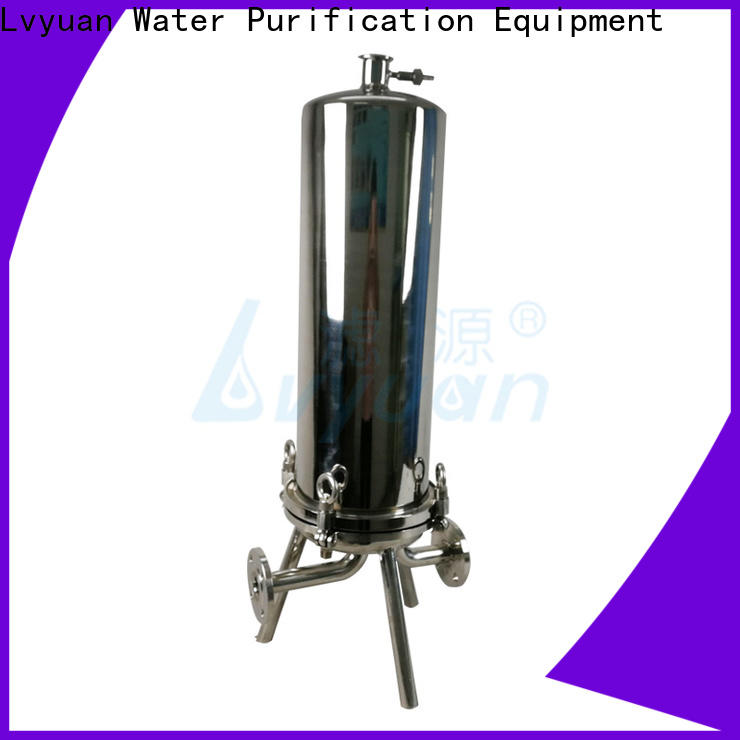 Lvyuan efficient stainless steel bag filter housing with core for oil fuel