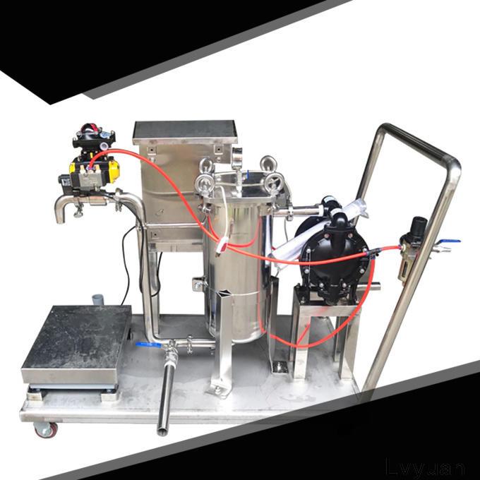 Lvyuan efficient stainless steel bag filter housing manufacturer for oil fuel