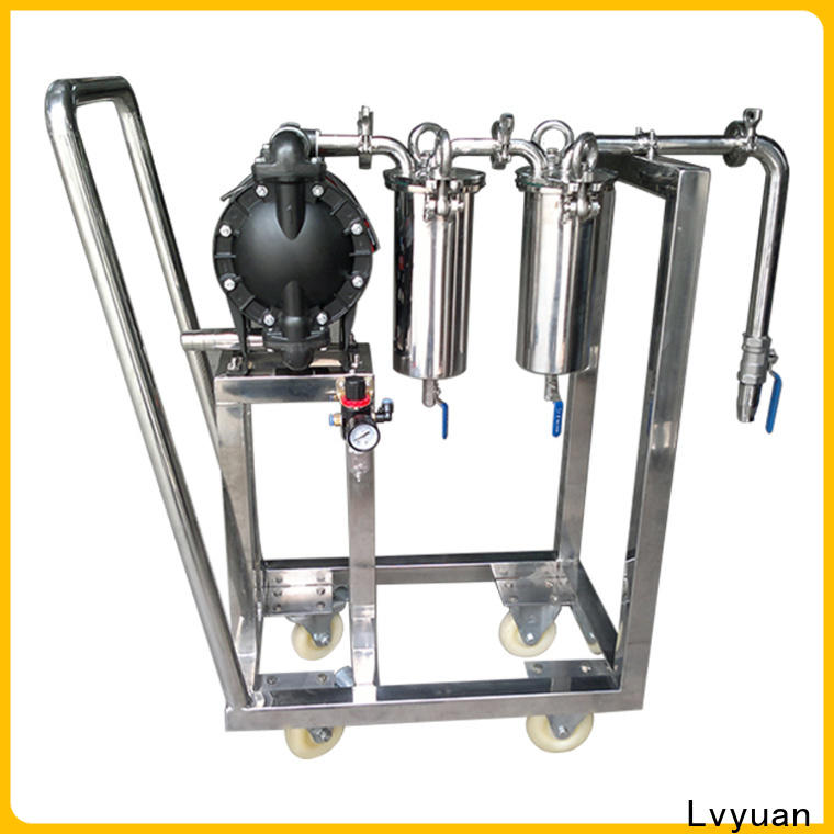 Lvyuan titanium ss filter housing manufacturers with fin end cap for oil fuel