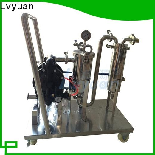 Lvyuan stainless steel bag filter housing with fin end cap for sea water desalination