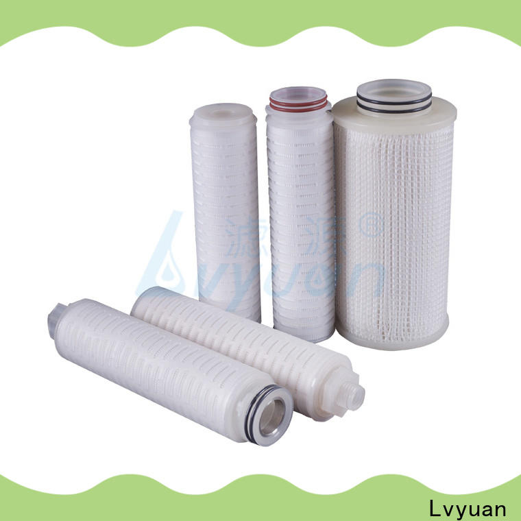 Lvyuan pleated water filter cartridge manufacturer for organic solvents