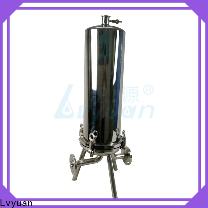 porous stainless steel bag filter housing with core for sea water desalination