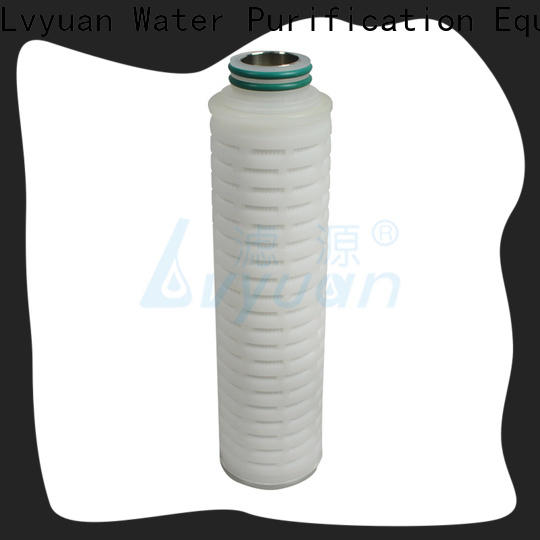 Lvyuan pvdf pleated filter element with stainless steel for sea water desalination