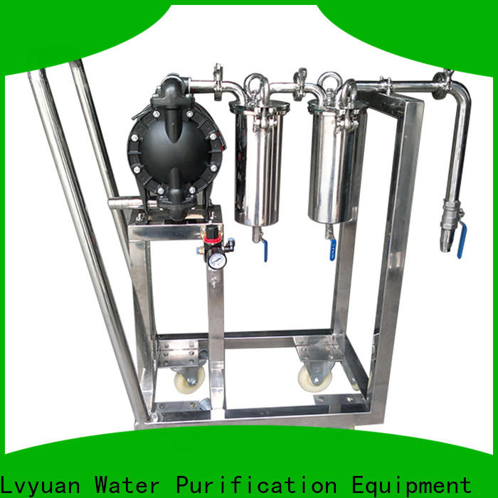 porous stainless filter housing with fin end cap for sea water treatment
