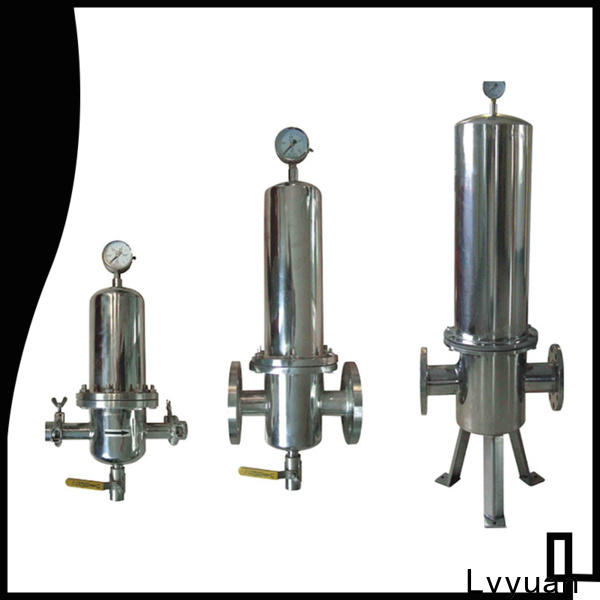 Lvyuan stainless water filter housing with fin end cap for food and beverage