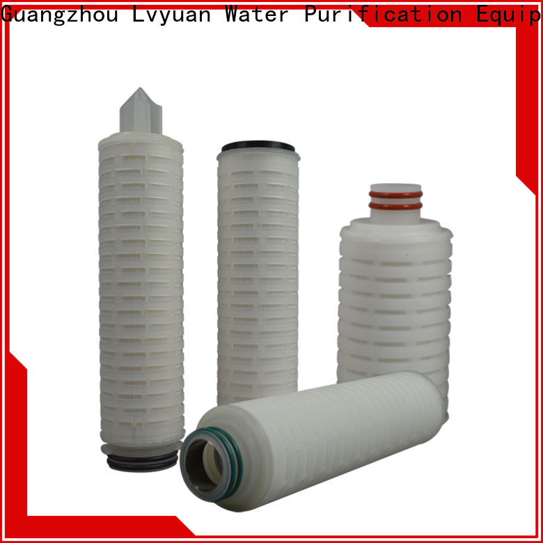 pvdf pleated filter cartridge with stainless steel for food and beverage