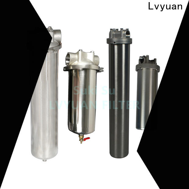 Lvyuan ss cartridge filter housing housing for food and beverage
