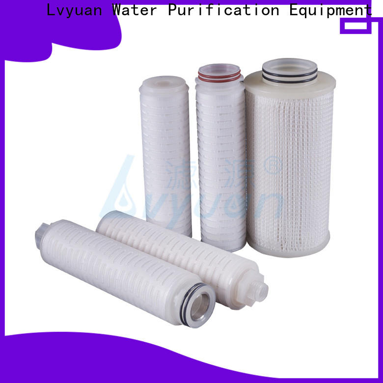 Lvyuan pleated filter cartridge with stainless steel for food and beverage