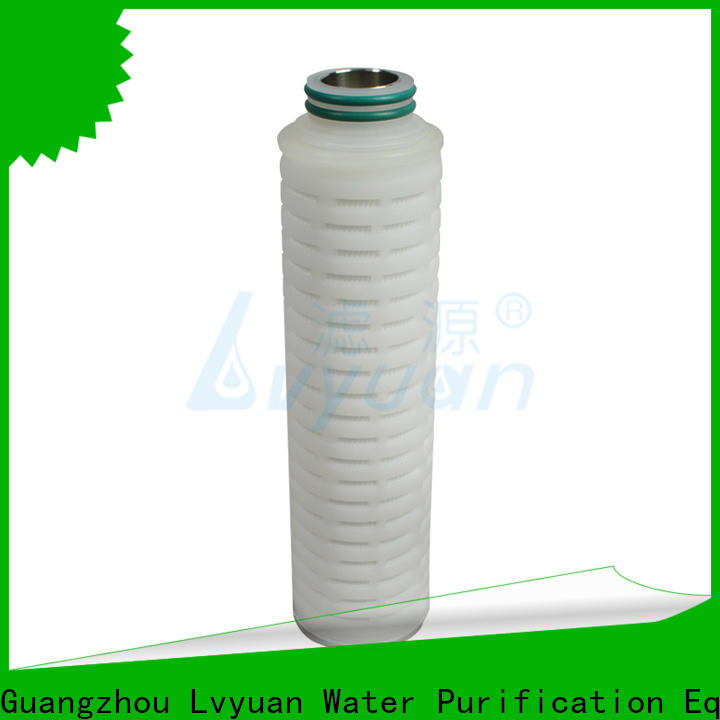 Lvyuan pleated water filter cartridge supplier for industry