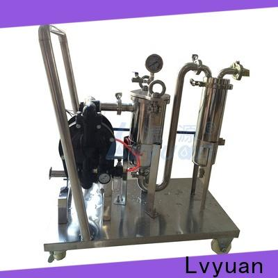 Lvyuan efficient ss bag filter housing with core for food and beverage