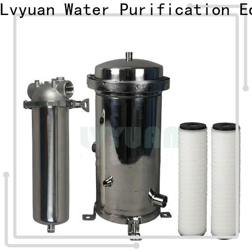 efficient stainless filter housing with fin end cap for food and beverage