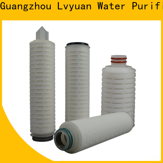 Lvyuan ptfe pleated water filter cartridge with stainless steel for sea water desalination