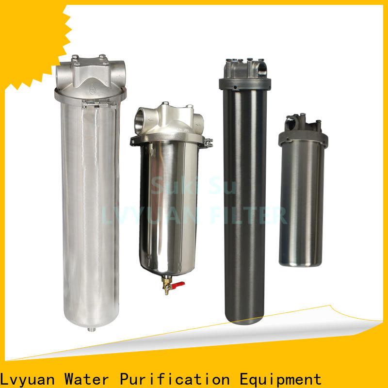 efficient stainless steel cartridge filter housing rod for sea water desalination