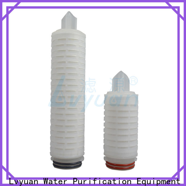 Lvyuan pleated filter cartridge with stainless steel for sea water desalination