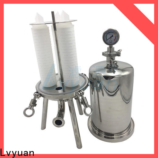 high end ss cartridge filter housing with fin end cap for oil fuel