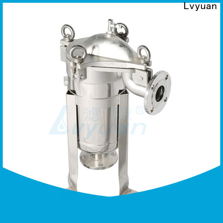 Lvyuan porous stainless steel bag filter housing housing for sea water desalination