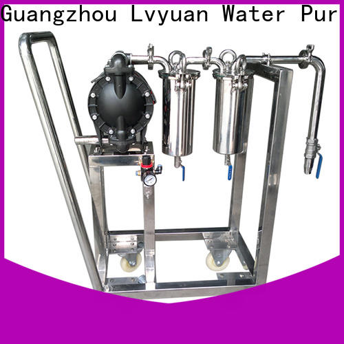 Lvyuan efficient stainless filter housing with fin end cap for food and beverage