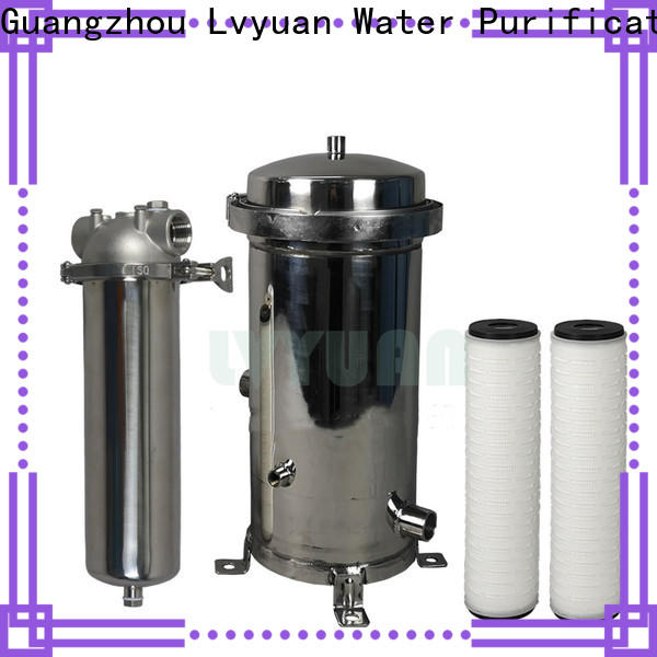 Lvyuan efficient stainless steel filter housing manufacturers with core for sea water treatment