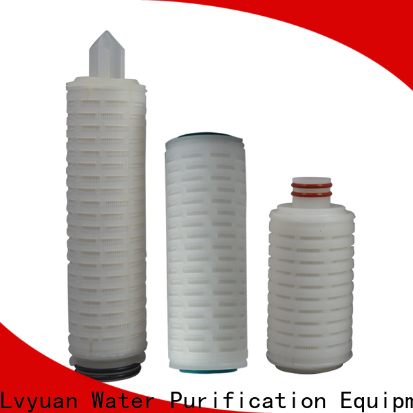 Lvyuan membrane pleated water filter cartridge with stainless steel for organic solvents
