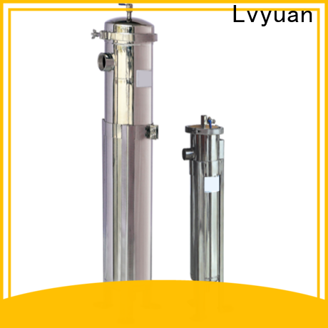 efficient stainless steel cartridge filter housing with fin end cap for sea water desalination