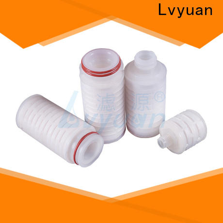 Lvyuan pleated filter cartridge suppliers with stainless steel for industry