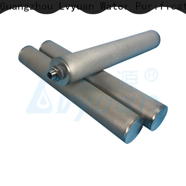 Lvyuan activated carbon sintered filter cartridge rod for sea water desalination