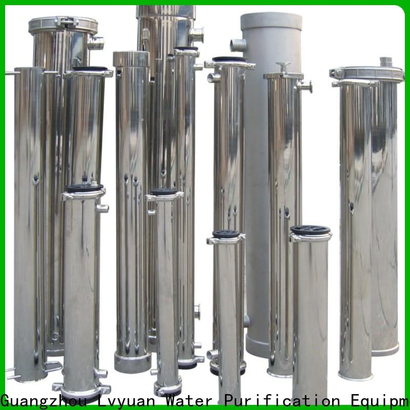 Lvyuan efficient stainless steel water filter housing with core for industry