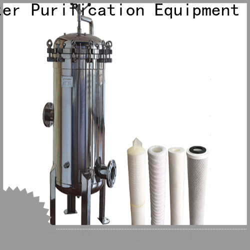 high end stainless steel filter housing with fin end cap for sea water treatment