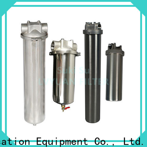 Lvyuan high end stainless water filter housing with core for oil fuel