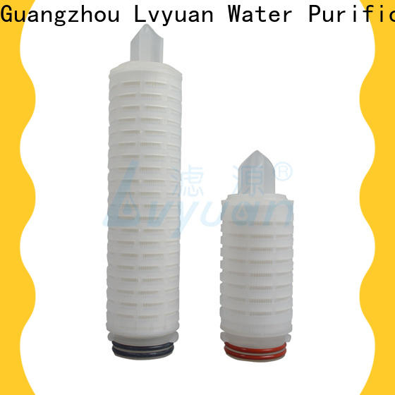 pvdf pleated filter cartridge suppliers manufacturer for liquids sterile filtration