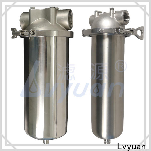 Lvyuan professional stainless steel cartridge filter housing with fin end cap for industry
