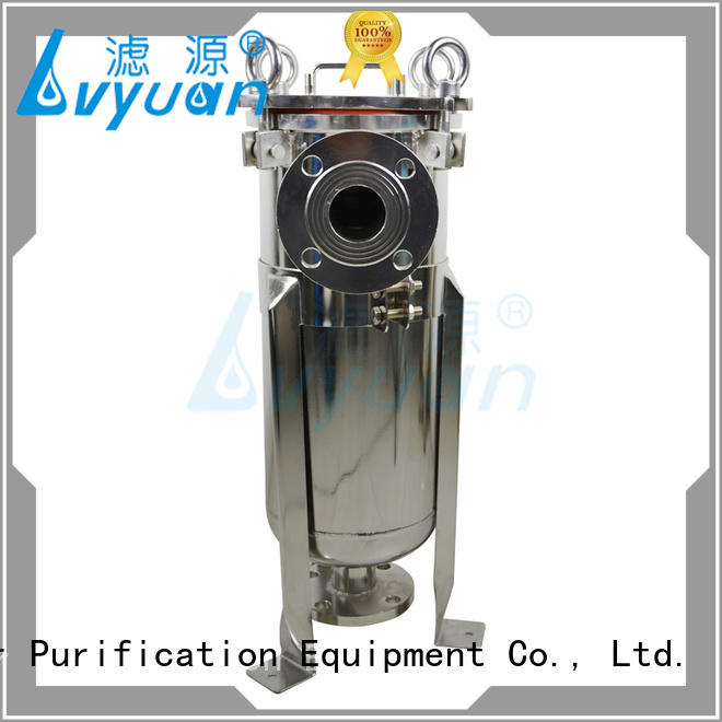high end stainless steel bag filter housing housing for oil fuel Lvyuan