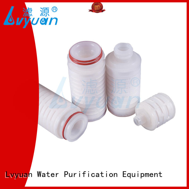 Lvyuan water pleated filter element manufacturer for food and beverage