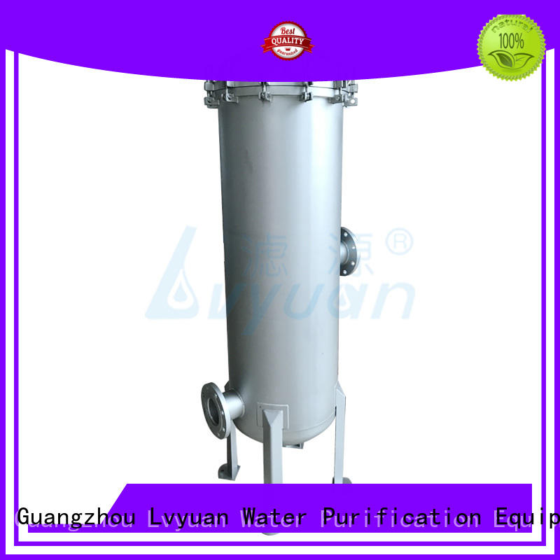 Lvyuan stainless steel water filter housing with fin end cap for industry
