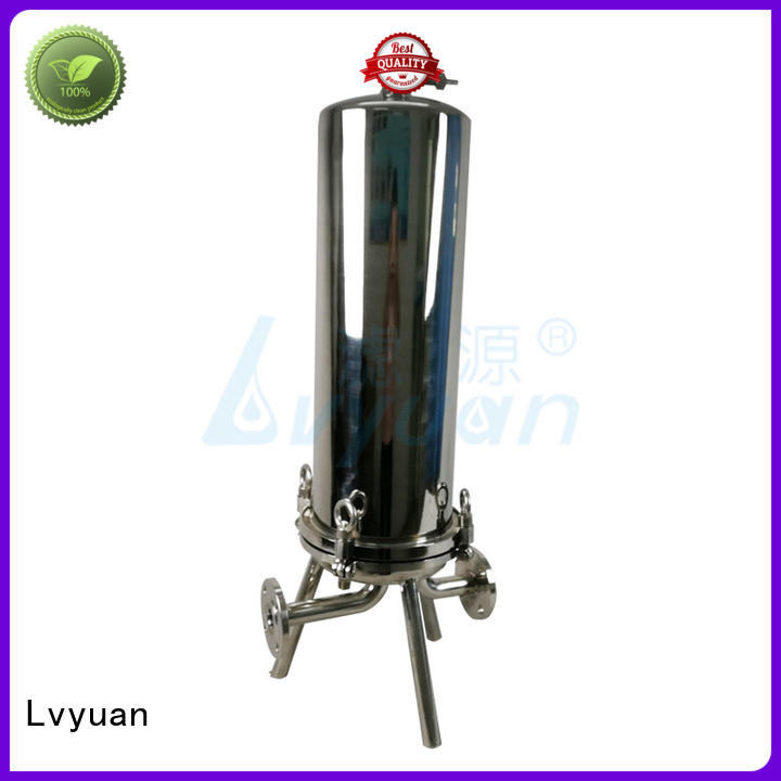 high end stainless steel water filter housing with fin end cap for sea water desalination