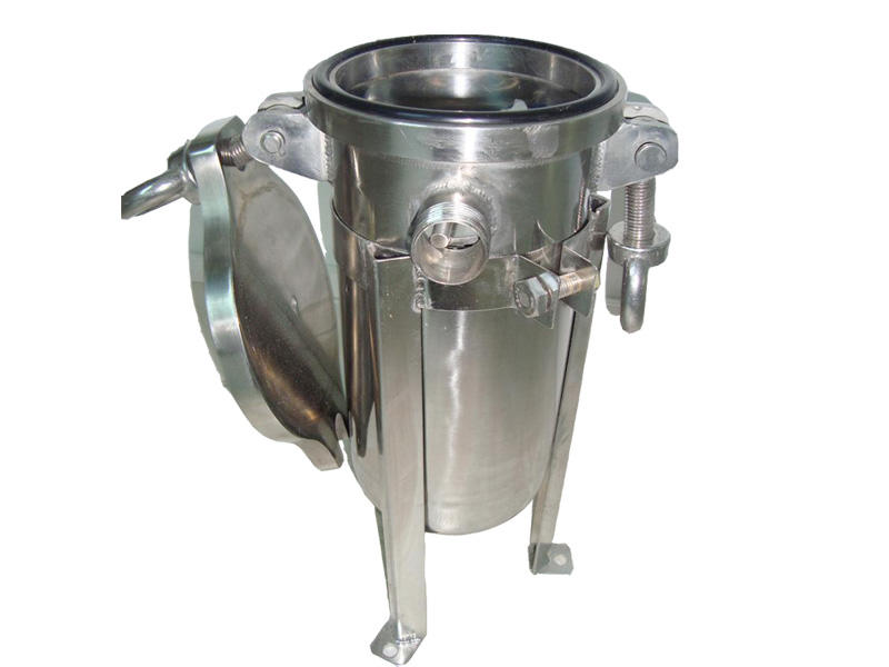 efficient stainless steel bag filter housing with fin end cap for sea water treatment-3